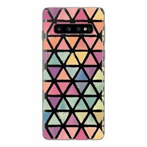 Samsung Galaxy S10 Coque fantaisie gel souple et solide ( Triangles)