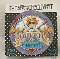 Mary Engelbreit Queen Of Everything 750 Jigsaw Puzzle Round New Sealed