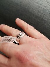 Sterling Silver Mens Diamond Ring Size U