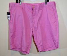 Polo Ralph Lauren Shorts Flat Front Solid Pink Pima Cotton Blend Size 40 NWT