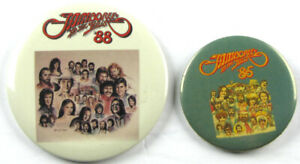 Vintage 1985-88 JAMBOREE in the HILLS Country Concert Button Pin Lot