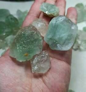 Green & Bi Color Fluorite Crystals from Nagar Valley Gb Pakistan 1.4kg