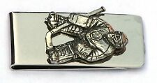Ice Hockey Goalie Pewter Design Money Clip Free Engraving Award Gift Present