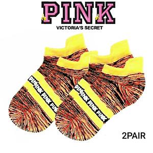 Victoria's Secret PINK ULTIMATE No Show Ankle Socks *2pr Marl 🍌 + Bonus! $14