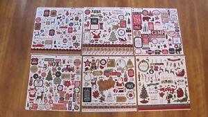"Echo Park 12"" x 12"" Holiday Sticker Pages Ephemera"