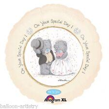 """18 """"ME TO YOU Orsacchiotto sul vostro giorno speciale ROUND NOZZE Foil Balloon"""