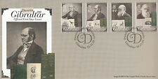 Gibraltar 2009 FDC Charles Darwin 200th Birth Ann 4v Set Cover Origin Species