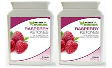2 x 60 Raspberry Ketone Bottles Weight Loss Diet Slimming Capsules Supplement