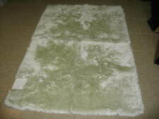 """Frontgate Monaco Bathroom Bath Rug Bathroom Silk Mat Shag 48x72"""" Celadon Green"""