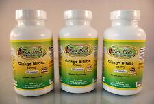Ginkgo Biloba 500mg ~300 (3x100) capsules, memory, blood circulation Made in USA