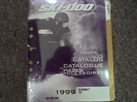 1999 Ski Doo Summit 700 Parts Accessories Catalog Manual OEM