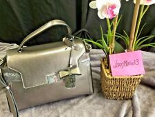 NEW! Guess Handbag Purse Bag Tote Ladies Judson Gunmetal Silver
