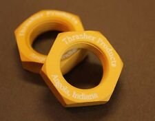 7/8-14 Aluminum Jam Nut  -  Gold Anodized