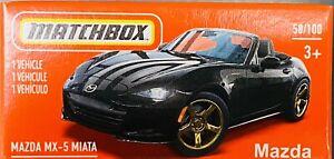 Matchbox Mazda MX-5 Miata Black 2021 New Release