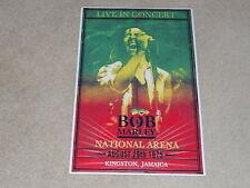 "Large Bob Marley 1975 Kingston, Jamaica Concert Poster, 19""x13"" RARE!"