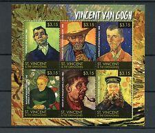 SAINT Vincent & Grenadine 2015 MNH Vincent Van Gogh 6V M / S ROULIN EUGENE BOCH