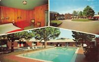 Griffin Georgia 1960s Postcard Callaway's Motel Room View Swimming Pool Entrance