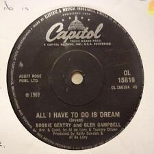 "Bobbie Gentry(7"" Vinyl)All I Have To Do A Dream / Walk Right Back-Capit-Ex/Ex"