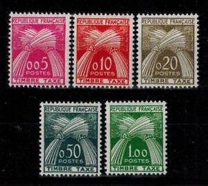 (a16) timbres taxe France n° 90/94 neufs** année 1960