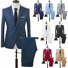 Men Formal Blazer Coat+Pants Set Slim Business Dresses Suit Tuxedo Party Wedding