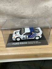 DeAgostini Rally Collection 1:43 Ford RS 200 Sweden Rally 1986 Grundel