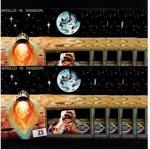 / 10X UMM AL QIWAIN - MNH - SPACE - SPACESHIPS - APOLLO 15 - MOON