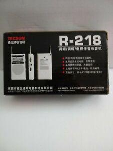 TECSUN R-218 TV/FM/AM, Pocket Radio NEW IN BOX, noise reduction
