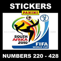 Panini 2010 World Cup stickers (South Africa) Numbers 220 - 428