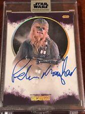 Star Wars Stellar PETER MAYHEW Chewbacca 03/10 Purple Autograph Auto Topps