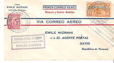 F5-13 / F5-14 Roundtrip Panama Internal Airmail First Flight Cover