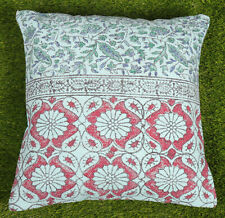 Dari Cushion Cover Handmade Cotton Green Floral Pillow Cover Home Decor Throw