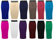 Polyester Straight, Pencil Skirts Plus Size for Women without Pattern