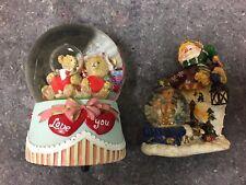 Christmas Snow Globe & Love You Bear Water Globe Music Box
