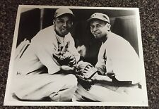 LARRY DOBY HALL OF FAMER  8X10 PHOTO WITH MONTE IRVIN NEWARK EAGLES 1946