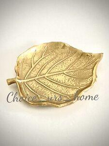LOVELY GOLD LEAF DECORATIVE TRINKET DISH HOME DECOR RINGS, JEWELLERY 12.5cm