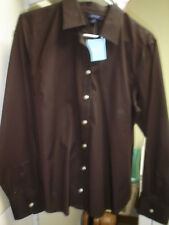 Lands End NWT Size 16P No Iron Stretch Button Down Top