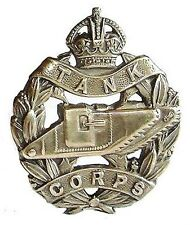 WW1 THE TANK CORPS CAP BADGE SOLID SILVER