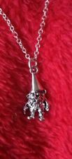 Cute Silver Gnomes Necklace on 925 Silver Chain...FREE POSTAGE