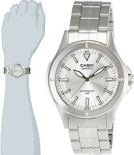 Casio MTP-1214A-7AV Men's Analog Watch Steel Band Stainless Silver Dial New