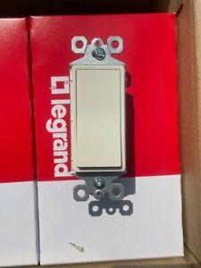 10 - Legrand PSWT1LA100 Ivory Single Pole Paddle Decorator  Light Switch 1P 15A