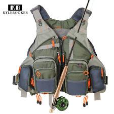 KyleBooker Fly Fishing Mesh Vest General Size Adjustable Mutil-Pocket Outdoor