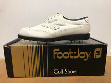 New listing Vintage Mens Footjoy TCX Golf Shoes Spikes Cleats Deadstock NIB NOS 90s Size 8.5