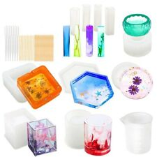 Silicone Molds for Resin Epoxy Resin Casting Art Molds for Diy Cup Pen Soap C9X1