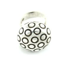 SIGNED Mid Century Modern Argentina Modernist Sterling Silver Ring D158 Size 6.5