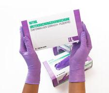Einweghandschuhe Einmalhandschuhe Nitrilhandschuhe 100 Stück Box L lila violett