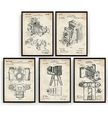 Photography Camera Set Of 5 Patent Prints - Poster Art Decor Gift - Unframed