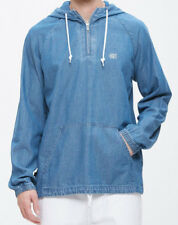 Obey Men's BLUE JEAN HOODIE Washed Denim Pullover Unique NWT Size L