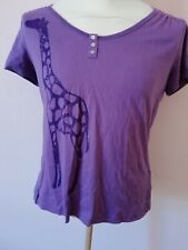 TEE SHIRT VIOLET YESSICA  BIO TAILLE L