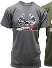 NEW WITH TAGS REALTREE RANGER STARS AND STRIPES LOGO TEES 60% COTTON 40% POLY