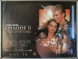 Cinema Poster: STAR WARS ATTACK OF THE CLONES 2002 (Quad) Ewan McGregor